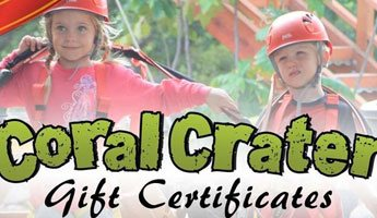 Coral Crater Adventure Park Gift Cards