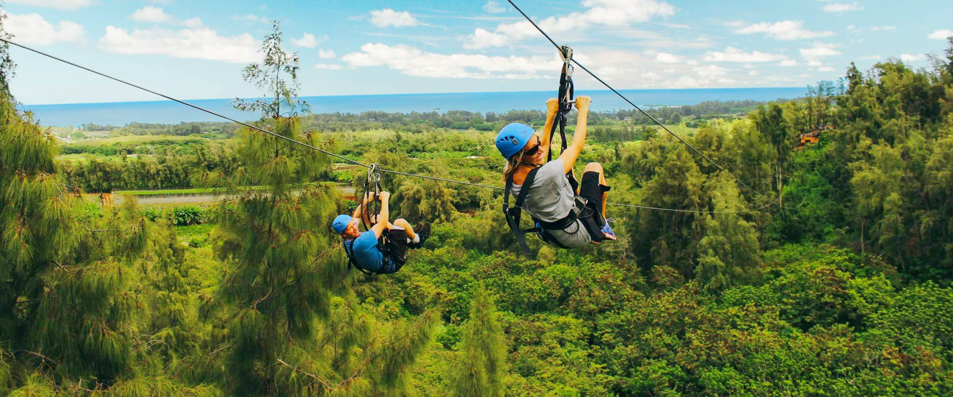 Fast paced exciting Zipline Tour