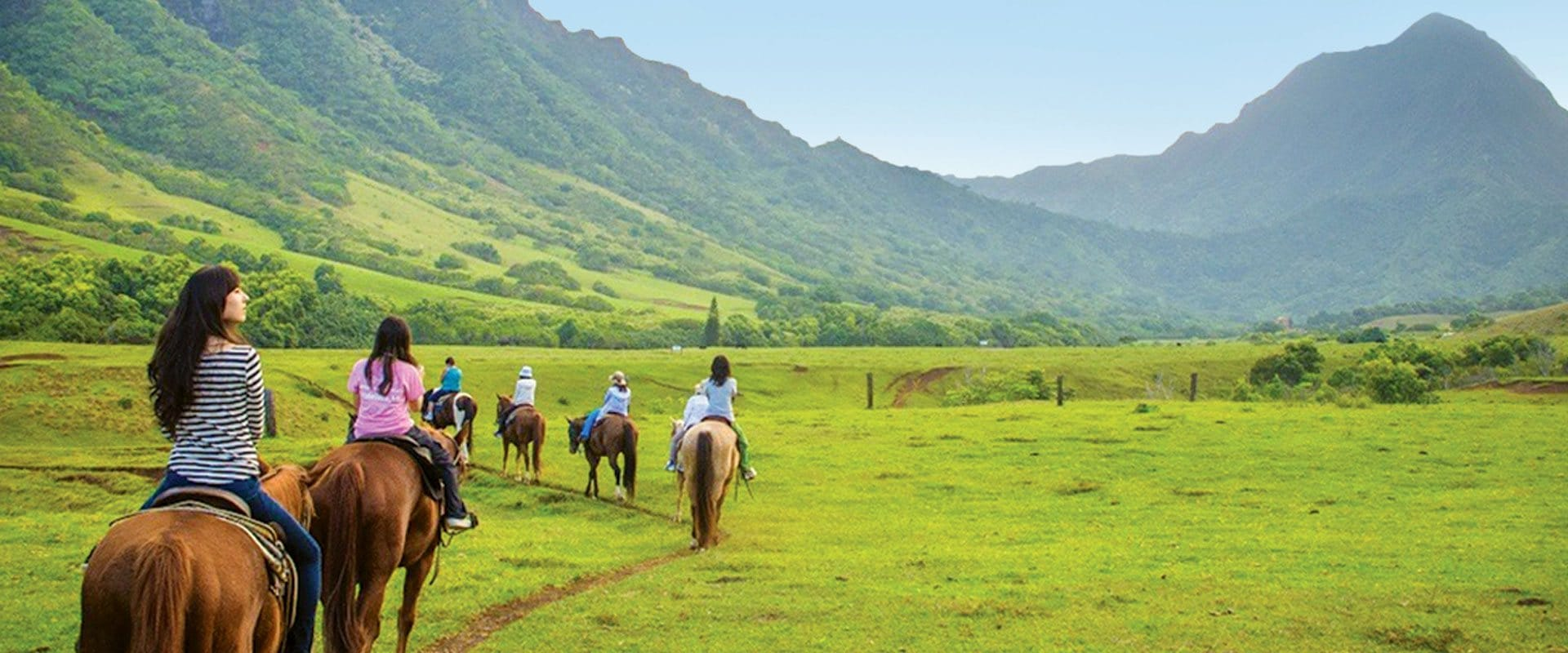 Horseback along the spectacular Koolau Mountain Range