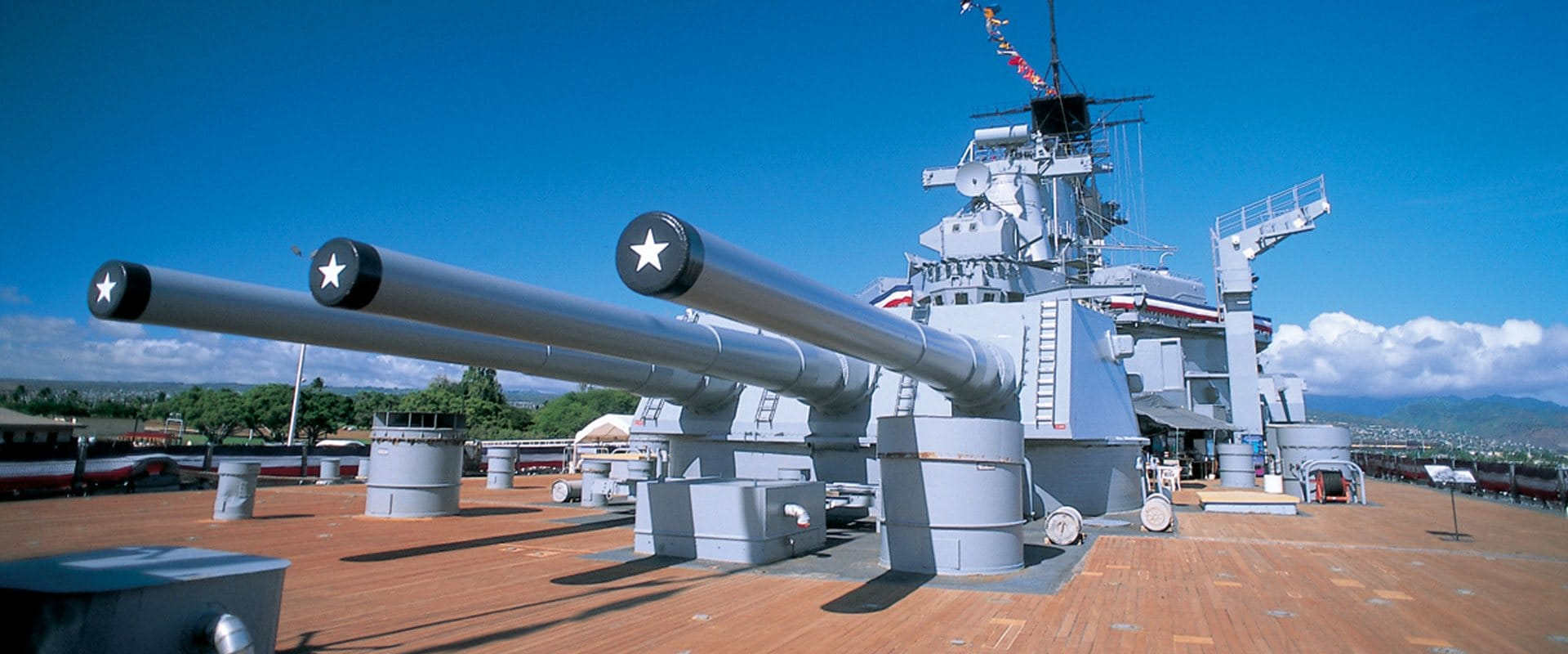 Battleship Missouri Memorial rests at Pearl Harbor
